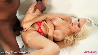 Kenzie Taylor pounded in the ass by black cock