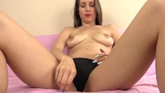 Giantess Goddess eats little tinies while masturbating