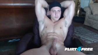 CJ Reed Enjoys a Jizz Parade All Over His Muscular Physique