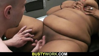 Black Cookie gives up her fat cunt for him