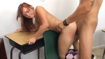 WANKZ - Schoolgirl Slut Rides Her Teacher s Big Dick!