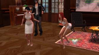 Fred, Aude et Xena qui danse dans le Clud d'Alaura