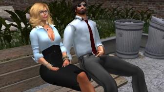 Fred Adjani rencontre une jolie blonde virtuel tres sympathique