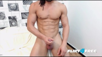 Good Looking Muscle Stud Jerks His Big Cock