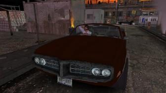 Fred Adjani qui écoute de la musique en voiture
