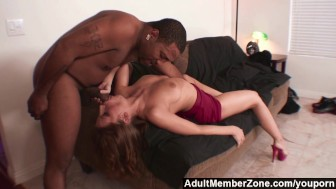 AdultMemberZone - Fiery redhead wants the black boy s giant dick