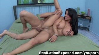 RealLatinaExposed - Sophia loves a big cock sliding between her big titsd