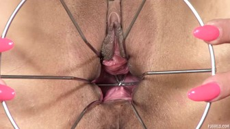 PJGIRLS Klarisa Leone extreme pussy stretching, self-fisting & special gyno wire dildo