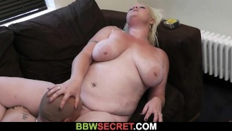 Her hubby cheats with huge plumper