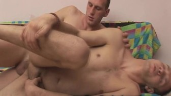 Horny College Gay Roommate Loves Bareback Sex