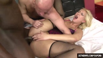 Blonde wife fucked by a black guy