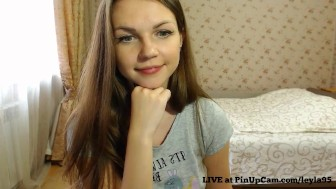 College exchange student camming with her boyfriend