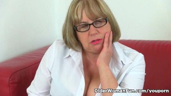 British granny Trisha can t control her sexual desire