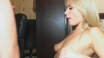 Sexy Blonde Babe Enjoy Riding His Hard Cock