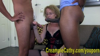 Young Guys Leave Massive Creampie