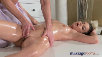 Massage Rooms Hot Milf sucks and fucks young guys big hard dick