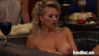 Lesbian Orgy In Baths With Busty Mistress Orgasming Hard