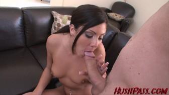 School Teacher Eva takes her first big cock!