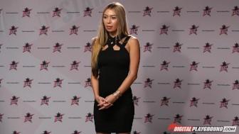 DP Star 3 - Petite Blonde Pornstar Kat Dior Deep Throat Blowjob