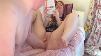 Roughly fisting and dildo fucking his GFs holes
