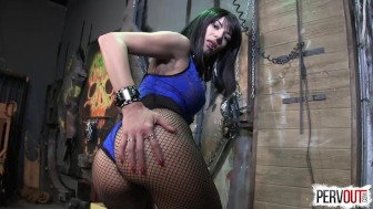 Cum Guzzling Slut for Arena Rome CEI JOI FISHNETS