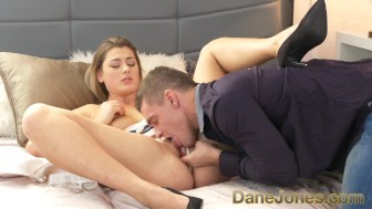 Dane Jones Voluptuous blonde rides her man every way after pussy eating