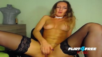 Beautiful BDSM Babe Kristina Luna Impact Play and Squirting