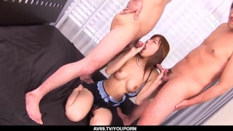 serina hayakawa gets cream in the pussy after hardcore sex