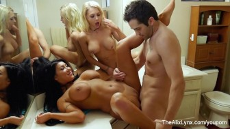 Alix Lynx and August Have a threesome
