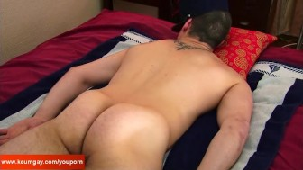 Vincent, A innocent straight guy serviced his big cock by a guy!