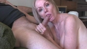 Blonde Melanie On Her Blowjob Session