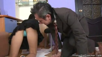 YOUR Schoolgirl Daughter Playing With Her Teachier