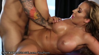 FantasyMassage Busty MILF Can't Ignore His Advances