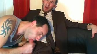Jerem, innocent vendor guy serviced his big cock by a guy!
