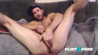 This Bro Jerks His Uncut Cock Until it Blows