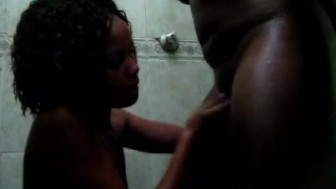 Sweet Afro lezzie tongues black girlfriends coochie in shower