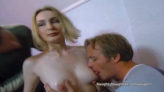 Booted blondes threesome with anal and dp