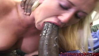 Alana with her first massive black cock!