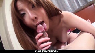 Perfect schoolgirl hardcore sex in POV with Yuna Hirose