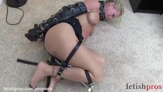 Simone Sonay Leather BeltBondage Escape Challenge