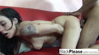 Hottie loves black cock