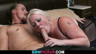 Cock hungry bbw gf seduces hunky stranger