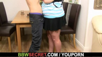 Cheating on wife with mega-titted brunette