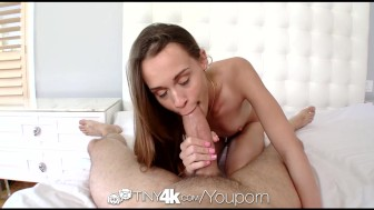 Tiny4k Tiny brunette Kacy Lane pussy stretched out by thick dick