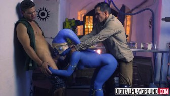 Star Wars Underworld: A XXX Parody Scene 2, Slave Eva Lovia takes two dick ""
