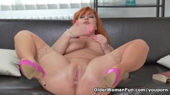 Big titted milf Alex finger fucks her insatiable cunt
