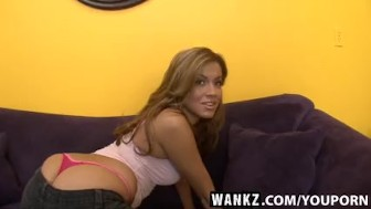 WANKZ- Horny Slut Shows Off Her Whale Tail