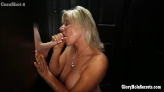 5 Expert cock suckers sucking off strangers in gloryhole