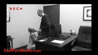 Casting another desperate skinny porn hooker takes it up the anal shitter and swallows