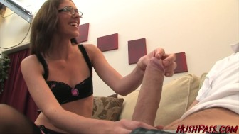 Katie Angel takes an 11 inch white dick in her MILF pussy!